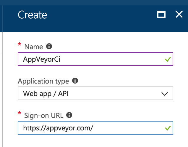 Create a new app in the portal